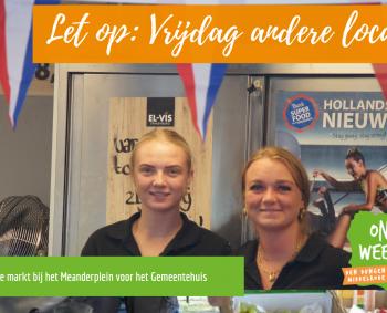 Komende vrijdag is de weekmarkt in Sint-Michielsgestel verzet naar het Meanderplein voor het gemeentehuis (in verband met de kermis )